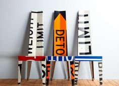 Cool chairs From Traffic Signs to Seating: Upcycled Furniture By Boris Bally Car Furniture, Urban Furniture, Recycled Furniture, Furniture Making, Furniture Design, Unusual Furniture, Painted Furniture, Furniture Ideas, Sustainable Furniture