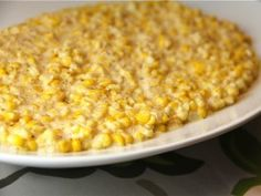 Get Kelsey Nixon's Slow Cooker Creamed Corn Recipe from Cooking Channel Slow Cooker Creamed Corn, Creamed Corn Recipes, Best Slow Cooker, Slow Cooker Recipes, Crockpot Recipes, Crockpot Dishes, Crock Pot Cooking, Veggie Dishes, Vegetable Recipes