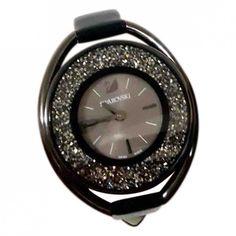 Pre-Owned Swarovski Black Steel Watch Swarovski, Steel, Watches, Shopping, Accessories, Black, Women, Wristwatches, Black People