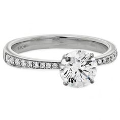 20 Dazzling Diamond Engagement Rings Hearts on Fire: Signature Solitaire with Diamond Band – The Knot