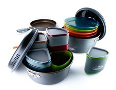 "GSI ""Pinnacle Camper"" nesting cookware/tableware great for camp or cabin!"