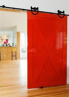 [gallery Do you wish to have a barn door for closets in your home decoration? Well, decorating the barn door offers an exquisite appearance in traditional details which certainly beautifies the closet decoration of your home interior. House Design, Door Design, Red Interiors, Architectural Elements, House Styles, House Interior, Barn Doors Sliding, Doors, Door Color