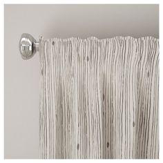 "Unlined Shibori Stripe Curtain Panel Grey (50""x84"")"