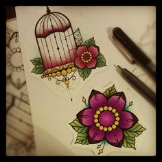 I didn't consider colour before but I like it on the birdcage, although as I'm so pale maybe another colour than pink is best.