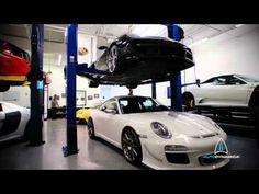 Quick glimpse of exotics @ AutoDynamica... Ferrari, Enzo, Porsche, Audi.