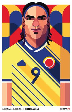 A series of World Cup Player Portraits for ESPN's North, Central, and South American markets.