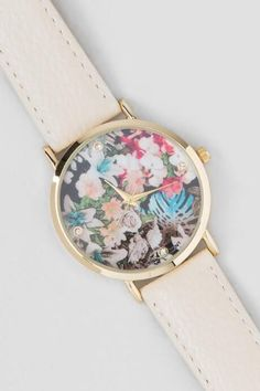 Janie Floral Watch - ivry-cl