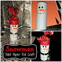 DIY Snowman Toilet Paper Roll Craft For Kids (Cheap Christmas Project)    Today we made some snowmen out of empty toilet paper rolls! It was...