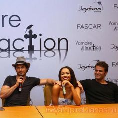 Ian Somerhalder, Kat Graham, and Paul Wesley at Vampire Attraction Con in Brazil 2015 (05/02/15)