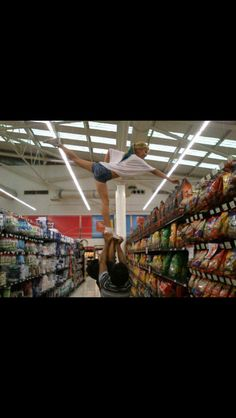 hah cant reach something in the store I know what to do... always shop with friends to help