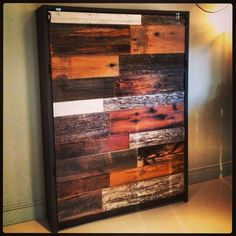 Reclaimed Barn Wood and Steel Murphy Bed