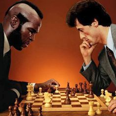 Rocky & Clubber playing chess