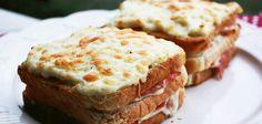 Clásico sándwich croque-monsieur Sandwiches, Food, Recipes, Croque Monsieur, Essen, Meals, Paninis, Yemek, Eten