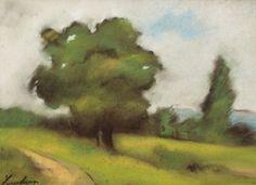 """Drum de ţară (la Brebu) [1908] ŞTEFAN LUCHIAN 1868, Ştefăneşti - 1916, Bucureşti pastel pe hârtie, 35×47cm, semnat, stânga jos, cu negru, """"Luchian"""" Valoare estimativă: € 20.000 - 30.000"""