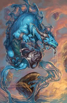 Zodiaco Dragon Signo Acuario - IMÁGENES del ZODIACO - 5.000 SIGNOS ZODIACALES…
