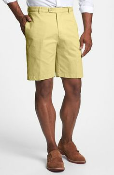 Peter Millar 'Winston' Washed Twill Shorts available at #Nordstrom