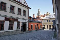 A side street in the Old Town in Bielsko-Biala, Poland