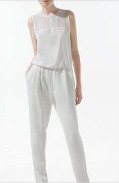 new arrval fashion backless tank top jumpsuit sexy cozy slim sleeveless overall casual Brand design Black Romper Pants, White Playsuit, Long Romper, White Jumpsuit, Black Pants, Jumpsuit Casual, Zara Jumpsuit, Jumpsuit Dress, Summer Jumpsuit