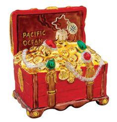 Image detail for -Christopher Radko Christmas Ornament - Treasure Chest