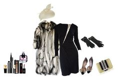 """""""outfit 5481"""" by natalyag ❤ liked on Polyvore featuring Dolce&Gabbana, Juliette Botterill Millinery, Givenchy, Valentino, Vicky Tiel, Yves Saint Laurent, Judith Leiber and Chanel"""