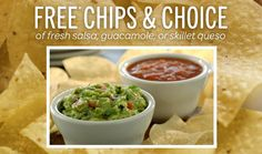 CHILI'S $$ Reminder: Coupon for FREE Chips & Salsa or Guacamole or Skillet Queso – Expires SUNDAY (11/2)!