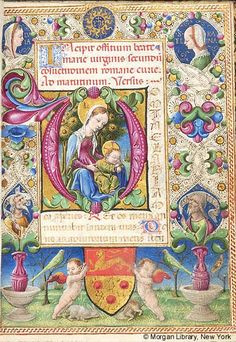 Book of Hours, MS M.227 fol. 13r - Images from Medieval and Renaissance Manuscripts - The Morgan Library & Museum