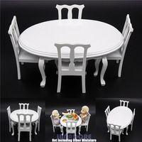 1:12 miniatura branco de madeira de jantar cadeira cozinha móveis Dollhouse dom brinquedos boneca acessórios de madeira móveis de bonecas