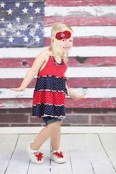 Red White and Blue Patriotic Headband  July by CuteAsaButtonbyAmy #july4 #fourthofjuly #redwhiteblue #redwhiteandblue #patriotic