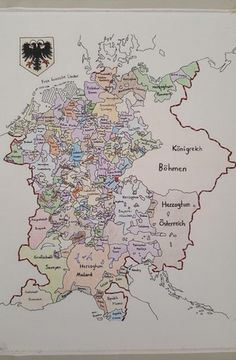 Holy Roman Empire, around 1400 by Vould #map #europe #germany