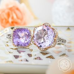 Candy colored gems to brighten up your day.  via @TacoriOfficial #GasserJewelers #Tacori #TacoriGirl #DowntownCanton #lilacblossoms #rings #jewelry #fashion #style #spring #SimplyUnique