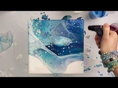(11) Dip on parchment paper with acrylic pour - YouTube