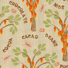 Cacao Trees with Midges and Mayan Glyph custom fabric by glimmericks for sale on Spoonflower Mayan Glyphs, Custom Fabric, Spoonflower, My Design, Craft Projects, Quilts, Comforters, Patch Quilt, Kilts