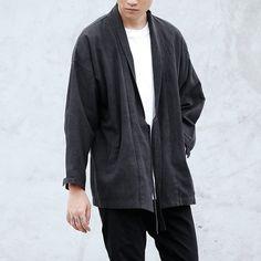 Street style mens noragi denim shirt