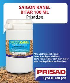 Saigon Kanel bitar 100 ML Bars For Home, Coconut Oil, Cinnamon, The 100, Jar, Food, Canela, Essen, Meals