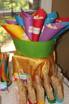 Rainbow Themed Party www.PaintedCookies.net