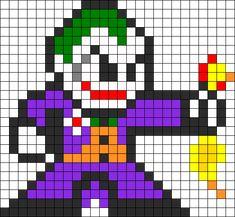 Joker With Rubber Chicken Batman Perler Bead Pattern Pony Bead Patterns, Pearler Bead Patterns, Kandi Patterns, Perler Patterns, Beading Patterns, Bracelet Patterns, Stitch Patterns, Perler Bead Designs, Perler Bead Art