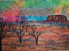 """""""Uluru Sunset"""" www.carolinesharkey.com.au"""
