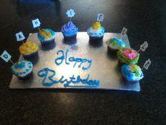 Lovely birthday cupcakes
