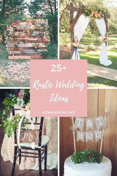love a Rustic Wedding Theme! Check out those 25+ Rustic Wedding Ideas to get you inspired if this is the theme you are going for !