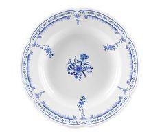 Conjunto de pratos provenza nina azul - para 06 pessoas