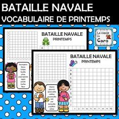 La classe de Caro JEU - BATAILLE NAVALE (TOUCHÉ ÉCOULÉ) PRINTEMPS