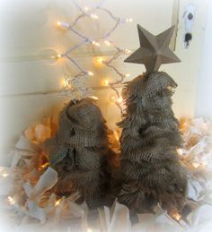 burlap trees | burlap trees Down to Earth Style: Crafting Tutorials | Christmas