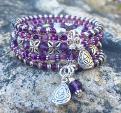 Hey, I found this really awesome Etsy listing at https://www.etsy.com/listing/274292062/pretty-in-purple-memory-wire-wrap