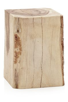 Squared tree trunk table/pedestal.
