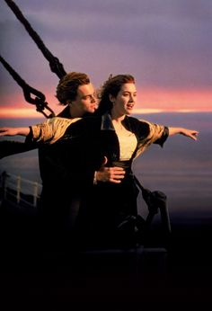 Leonardo DiCaprio and Kate Winslet in Titanic #movie #actor