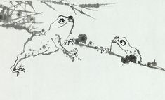 "Tracing the Past, Drawing the Future: Master Ink Painters in 20th-Century China : Pan Tianshou, ""Ink Frogs"" (Detail), 1961, Hand-scroll, Ink and color on paper."