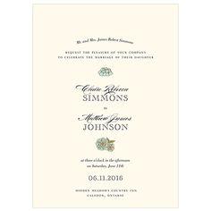 Elegant Rustic Wedding Invitation #wedding #invitation #rustic #elegant #garden
