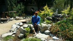 landscape project by C&R Landscape ------ waterfall and streams by ----good stuff camper dave enjoying it all -----* Water Wise Landscaping, Enjoy It, Long Beach, Orange County, Stepping Stones, Landscape Design, Pond, Camper, Waterfall