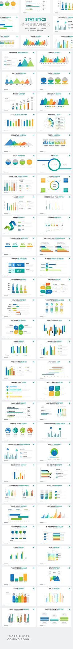 Statistics Infographics - PPT KEY GS. Presentation Templates