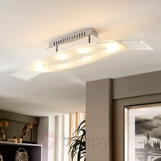 Lampa sufitowa LED Fiete ze szkła 9620834